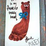 My Favorite Teddy Bear Father's Day Footprint Card