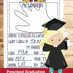 Sweet Printable Memories Keepsake for Preschool Graduation