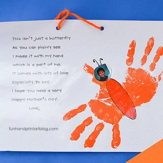 Mother's Day Handprint Butterfly & Poem Keepsake