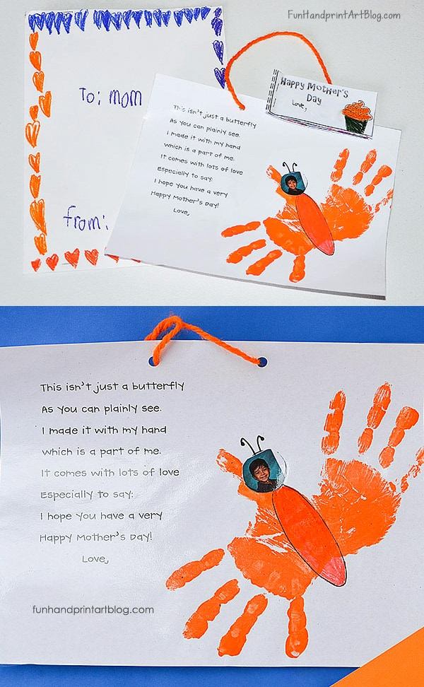Mother's Day Handprint Butterfly Poem Keepsake