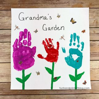 Grandma's Garden Handprint Craft