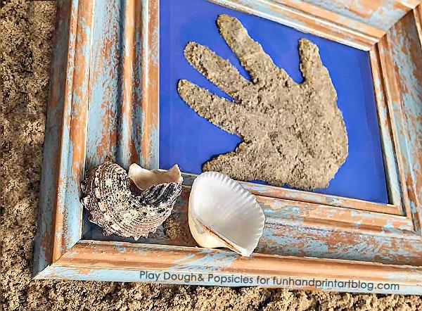 Beach Vacation Keepsake: Framed Sand Handprint