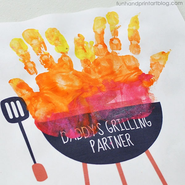 Father's Day Handprint Grill Craft for Kids to Make