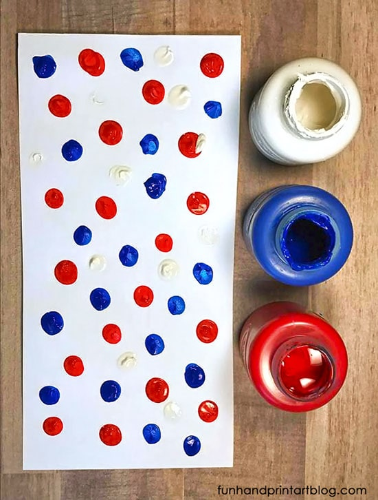 4th of July Fingerprint Craft - Windsock