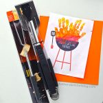 Cute Father's Day Gift Idea for Dads Who Love to BBQ + Handprint Grill Craft