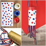 Fingerprint Painted Patriotic Windsock Craft For Kids