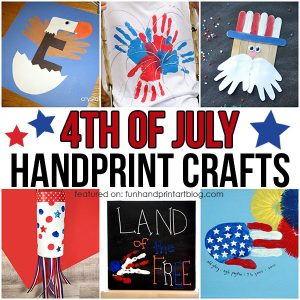 July 4th Kids Handprint Craft Ideas: Flags, Eagles, Uncle Sam & More!