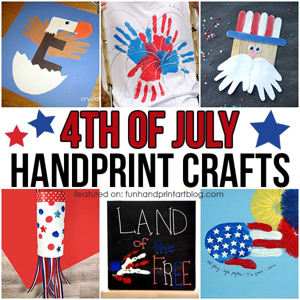4th Of July Kids Handprint Arts And Crafts Fun Handprint Art
