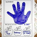 Printable First Day Of School Interview With Handprint