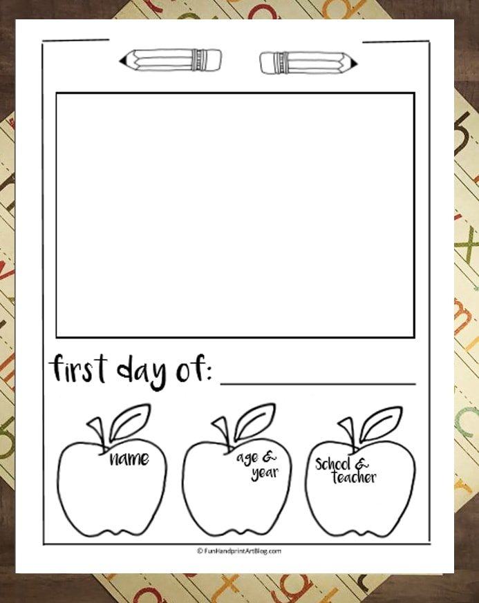 photo relating to First Day of School Printable known as Absolutely free Printable: Very first Working day Of Higher education Job interview With Picture