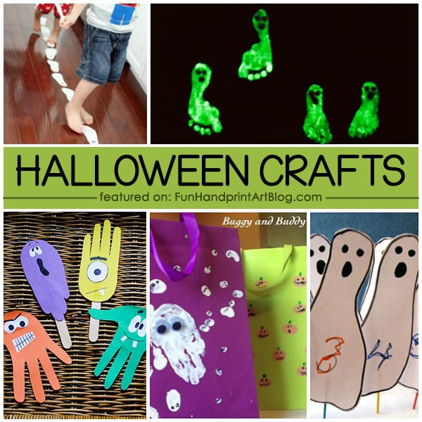 16 Spooktacular Halloween Handprint, Footprint, & Fingerprint Crafts