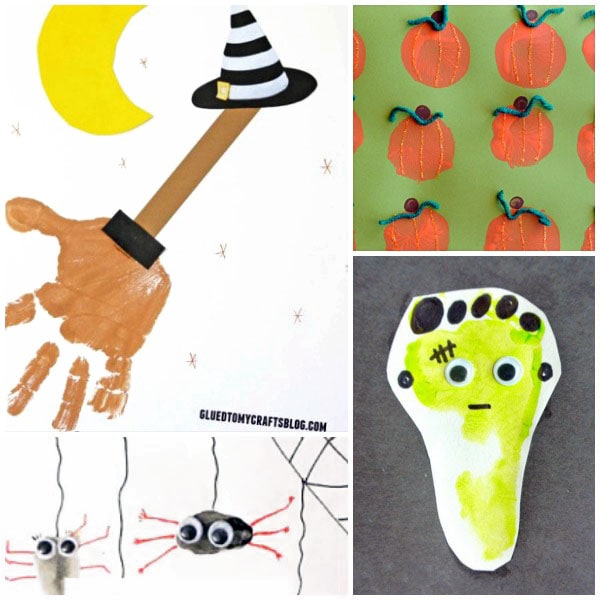 Create fun Halloween Handprint and Footprint Crafts with these fun ideas.