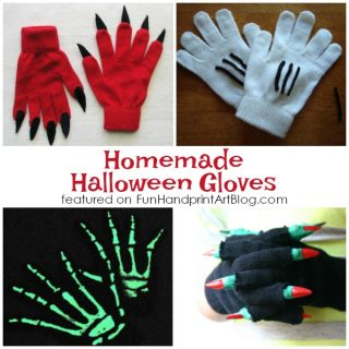 Hand-y Homemade Halloween Gloves for Kids