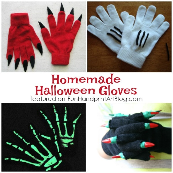 Homemade Halloween gloves are fun for kids. They can take a fun Halloween costume to the next level with minimal effort.