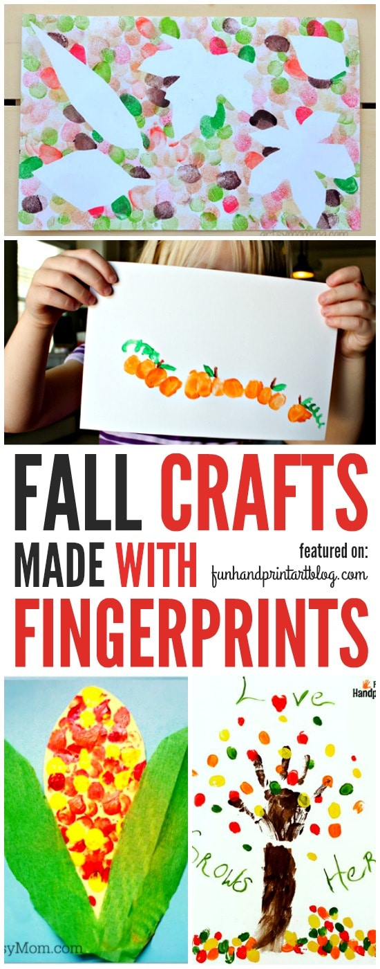 Fun Fall Fingerprint Crafts for kids to make