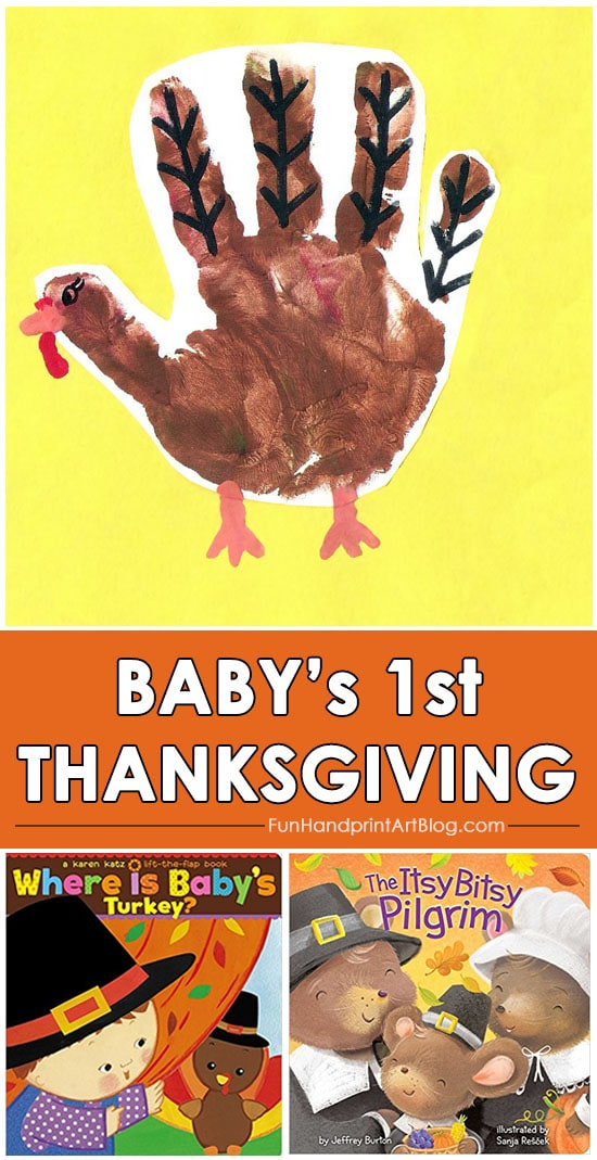 Baby's 1st Thanksgiving Handprint Turkey Keepsake Craft