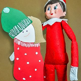 Footprint Elf on the Shelf Craft and Ideas
