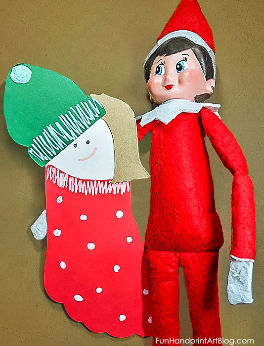 A Fun Footprint Elf Craft that kids can make to give as a gift to their Elf On A Shelf. Other ideas included in the post.
