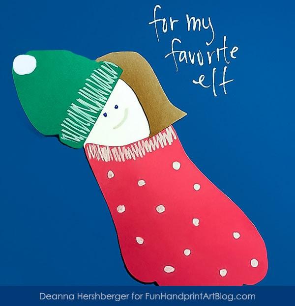 Footprint Elf on the Shelf Christmas Craft