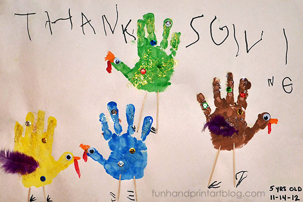 Thanksgiving Book Inspired Handprint Craft
