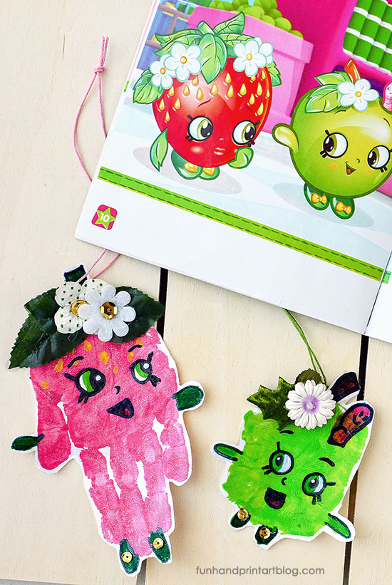 Handprint Shopkins Character Ornaments Christmas Craft Idea