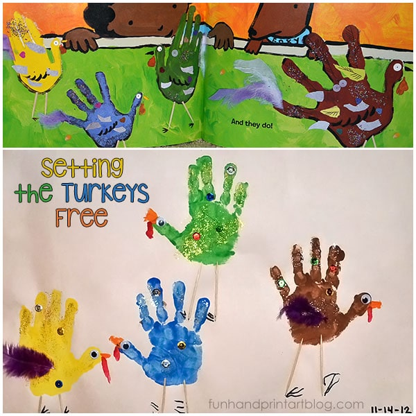Book About Turkeys + Handprint Craft