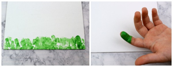 Painting Grass Using Fingerprints