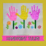 Garden Handprint Craft for Preschoolers & Kindergartners - Tulips