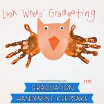 "Handprint Owl Graduation Keepsake for Preschool & Kindergarten - ""Look Whoo's Graduating!"""