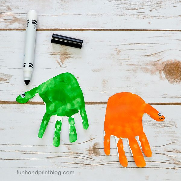 Dinosaur Handprint Craft for Kids