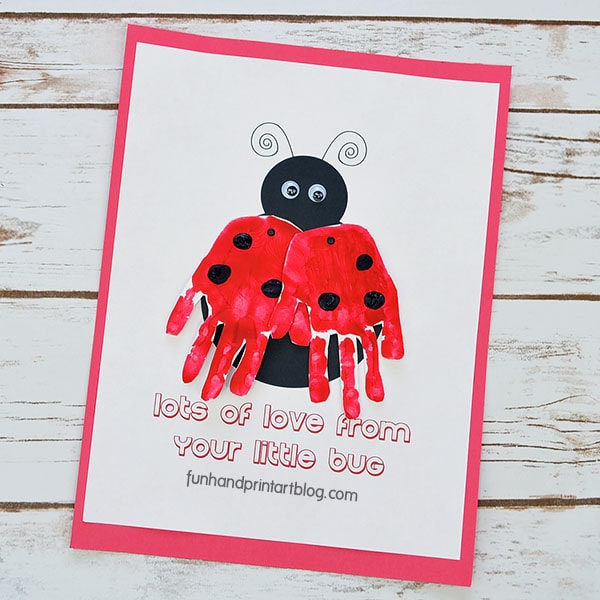 picture regarding Printable Ladybug called Printable Ladybug Handprint Template with Transportable Wings