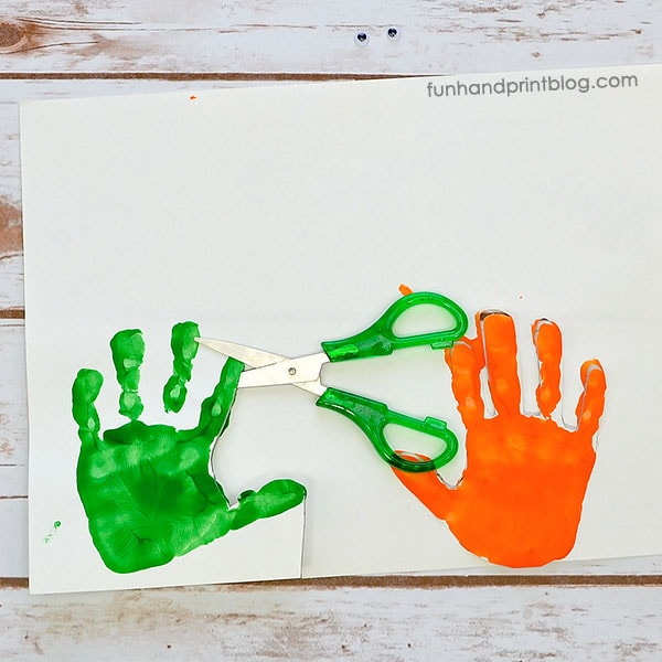 How to make handprint dinosaurs with kids
