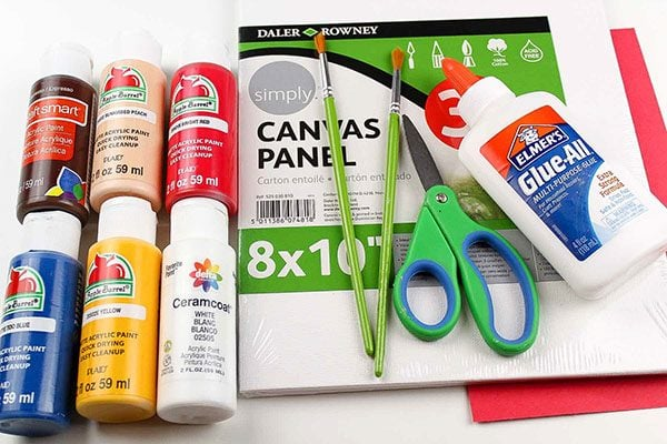 4th of July Canvas Art Supplies