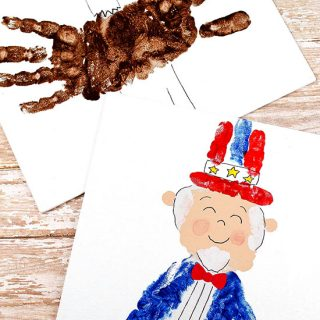Fourth Of July Hand Paintings: Uncle Sam & Bald Eagle Craft