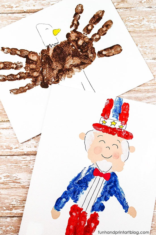 Festive Handprint Crafts for Independence Day Lesson Plan