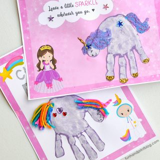 Super Cute Unicorn Handprint Posters