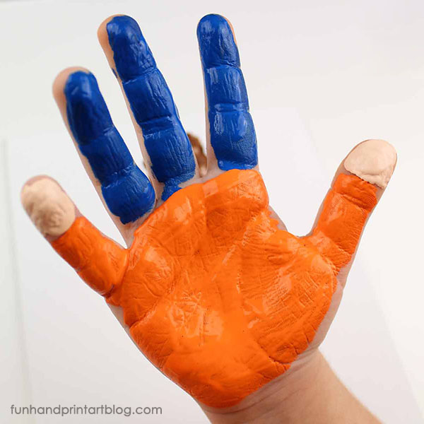 Boy Handprint Painting for Father's Day