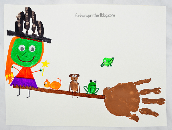 Room On The Broom Arts And Crafts For Preschool & Kindergarten