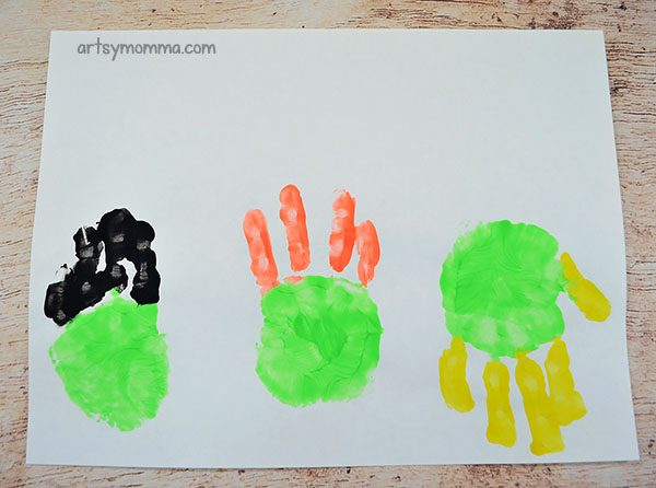 Handprint Witches Inspired By Sanderson Sisters From Hocus Pocus Movie