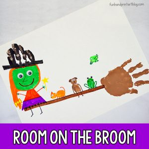 Room On The Broom Inspired Handprint Craft - Kindergarten Art Project