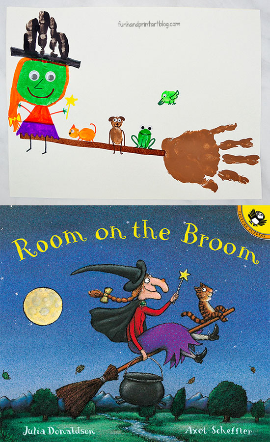 Cute Witch And Broom Hand Craft Inspired By Room On The Broom Story