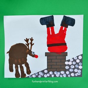Stuck Santa Hand Painting - includes a background template!