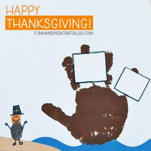 Mayflower Handprint Art With A Thumbprint Pilgrim - includes template!