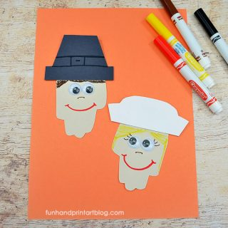 Paper Pilgrim Project For Kids To Make For Thanksgiving
