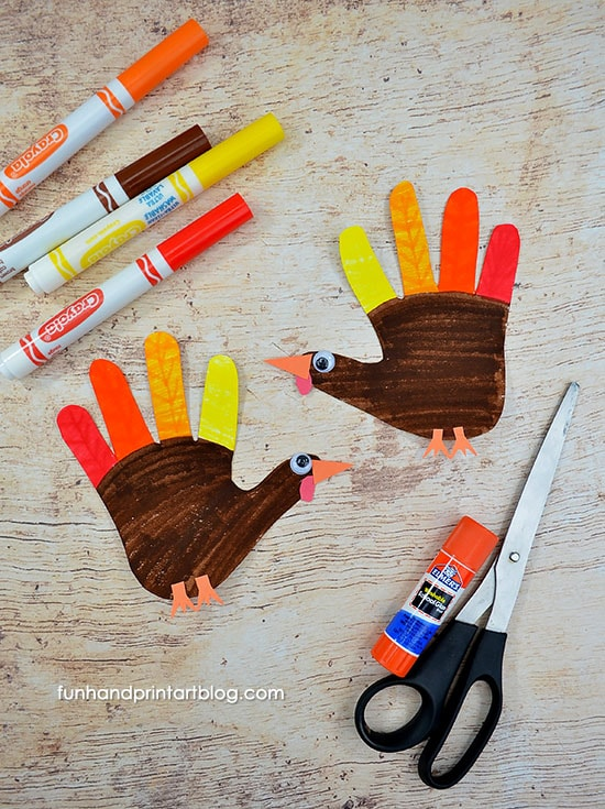 Paper Turkey Coloring Craft For Kids