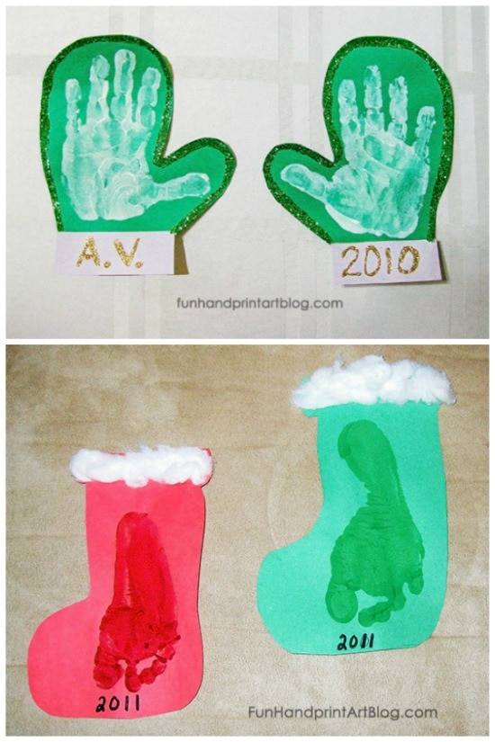 Easy Handprint Winter Crafts For Toddlers, Preschool, & Kindergarten
