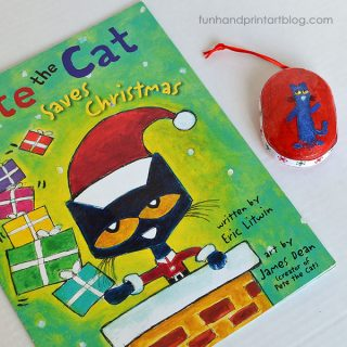 Read Pete the Cat Saves Christmas & Make A Pete The Cat Fingerprint Ornament