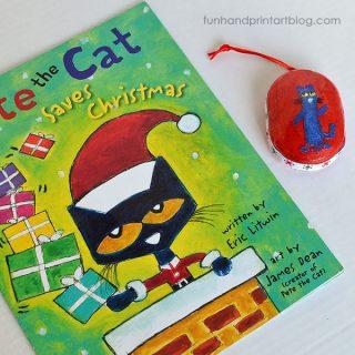 Read Pete the Cat Saves Christmas & Make A Pete The Cat Fingerprint Ornament