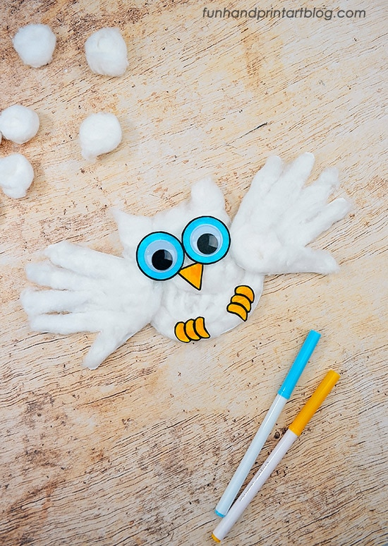 Easy Snowy Owl Printable Craft - Cute for Owl Babies Book