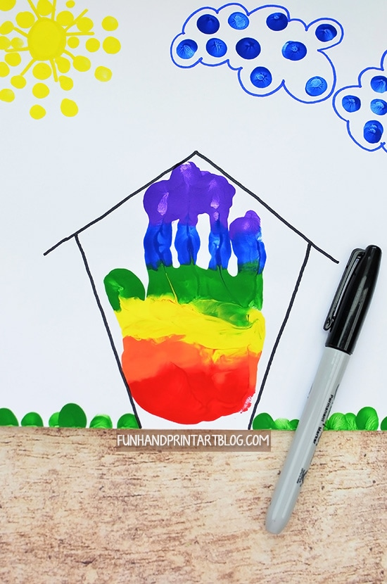 Rainbow Handprint House